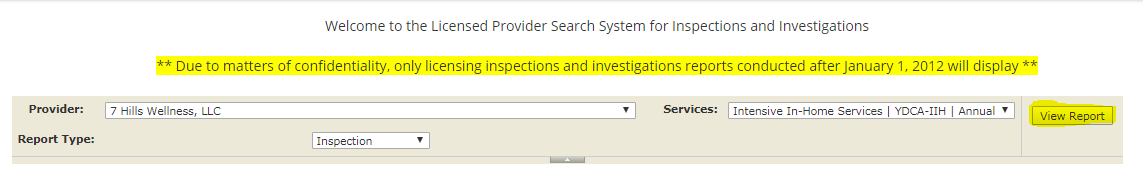 Licensed Provider Location Search / Virginia Department of